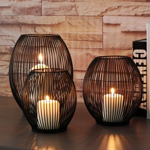 Black Lantern Candle Holder