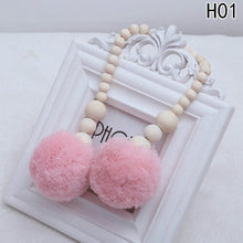 Load image into Gallery viewer, Wooden Beads Pompom Tassel Decor