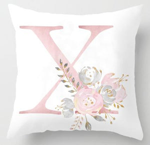 Floral Initial Pillow