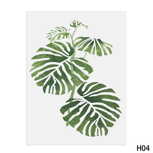 Watercolor Tropical Plant Minimalist Art