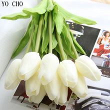 Load image into Gallery viewer, Tulips Artificial Flowers In Vase 10pcs