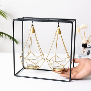 Modern Diamond Candle Holder