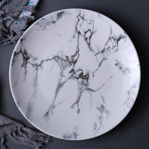 Set of 4 Marble Pattern Plates