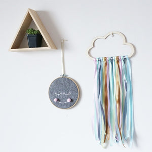 Wood Cloud Hanging Wall Ornament