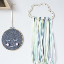 Load image into Gallery viewer, Wood Cloud Hanging Wall Ornament