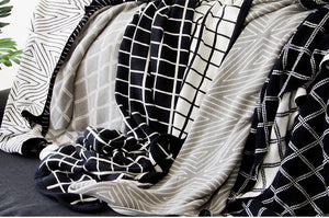 100% Cotton Geometric Throw Blanket