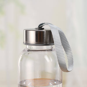 Outdoor Clear + Silver Water Bottles