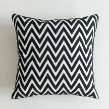 "Load image into Gallery viewer, Black + White Canvas 18"" Square Pillow Cover"