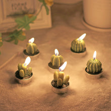 Load image into Gallery viewer, Cactus Tealight Candles - Set of 6