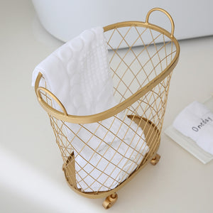 Gold Rolling Storage Basket