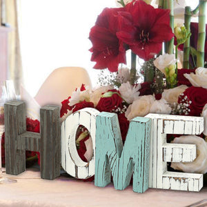 Rustic Wood HOME Decorative Sign