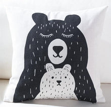 Load image into Gallery viewer, Black + White Kids Pillows