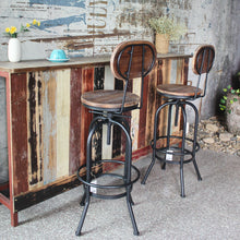Load image into Gallery viewer, Industrial Bar Stool Pinewood + Metal