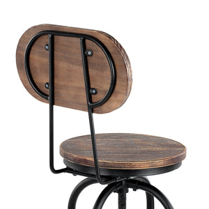 Industrial Bar Stool Pinewood + Metal