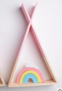 Wooden Teepee Shelf Decor