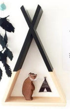 Load image into Gallery viewer, Wooden Teepee Shelf Decor