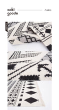 Load image into Gallery viewer, Hand-Woven Black + White Wool Rug