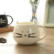 Load image into Gallery viewer, Black + White Cat Mug