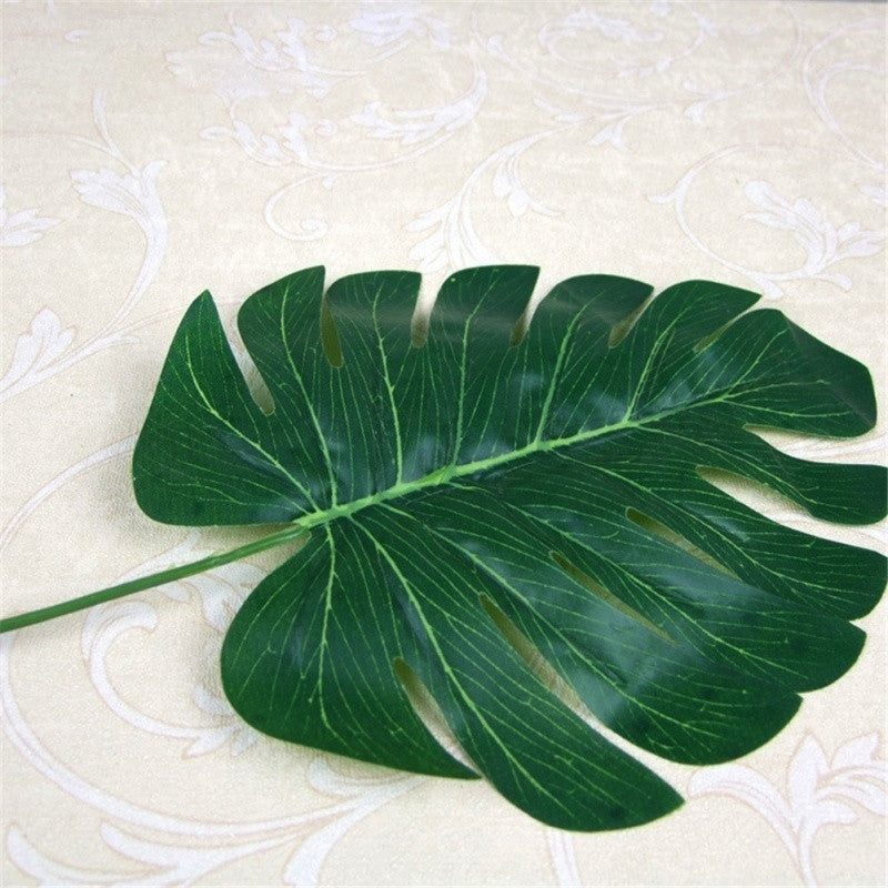 Artificial Silk Faux Leaf 1pc