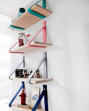 Load image into Gallery viewer, Metal + Wood Floating Shelf