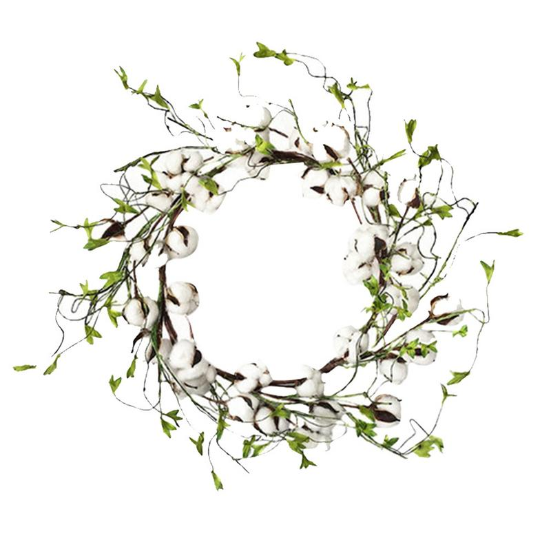 Cotton Farmhouse Wreath