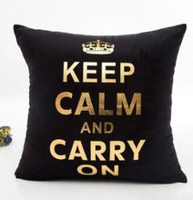 Load image into Gallery viewer, Black + Gold Throw Pillows