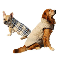 Load image into Gallery viewer, Reversible Plaid Dog Jacket