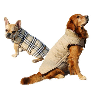 Reversible Plaid Dog Jacket