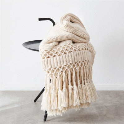 Tassle Throw Blanket