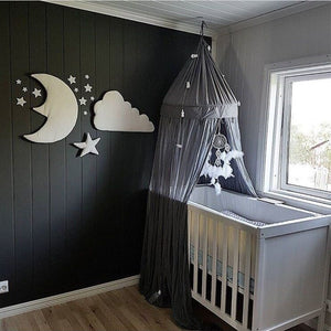 Set of 3 - 3D Moon Cloud Star Wall Stickers