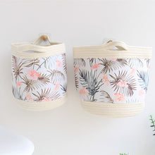 Load image into Gallery viewer, Leaf Cotton Rope Storage Basket