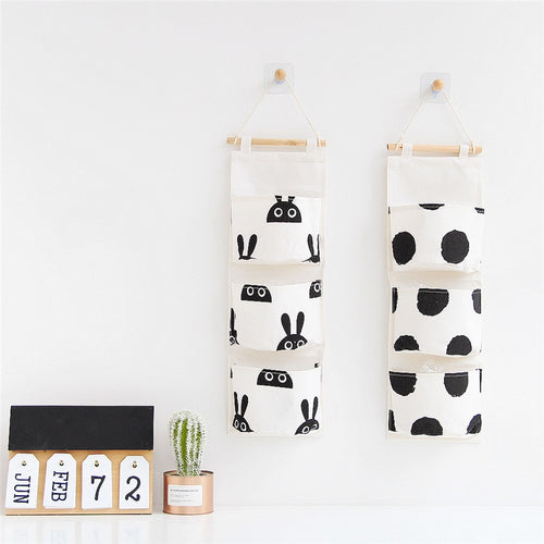 3 Pocket Wall Hanging Storage Bag