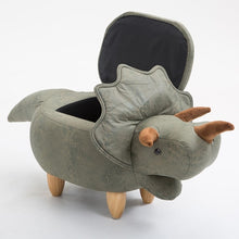 Load image into Gallery viewer, Dinosaur Ottoman
