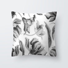 Load image into Gallery viewer, Black + White Plant Leaf Pillows