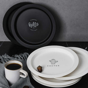 Black + White Ceramic Plates