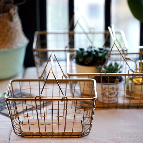 Metal + Wood Basket