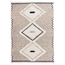 Load image into Gallery viewer, Geometric Woven Wool Rug