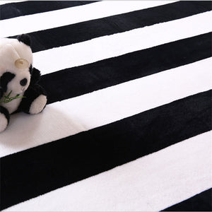 Black + White Stripe Rug