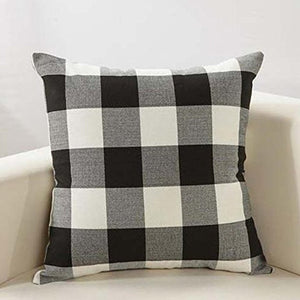 Black Buffalo Plaid Pillow