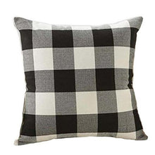 Load image into Gallery viewer, Black Buffalo Plaid Pillow