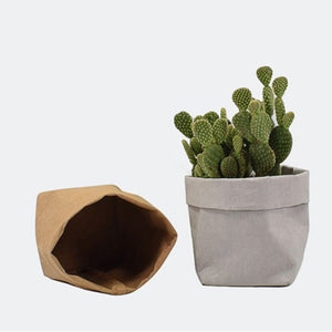 Mini Kraft Paper Flower Pot
