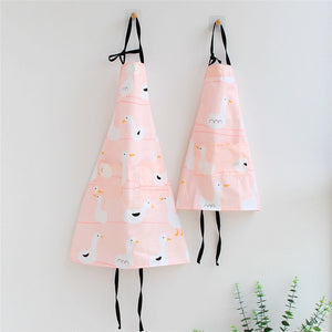 Cotton Printed Aprons Adult + Kid