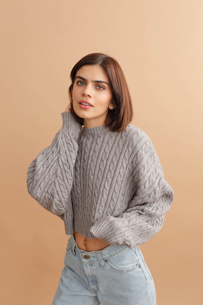 No Rules Cable Knit Sweater