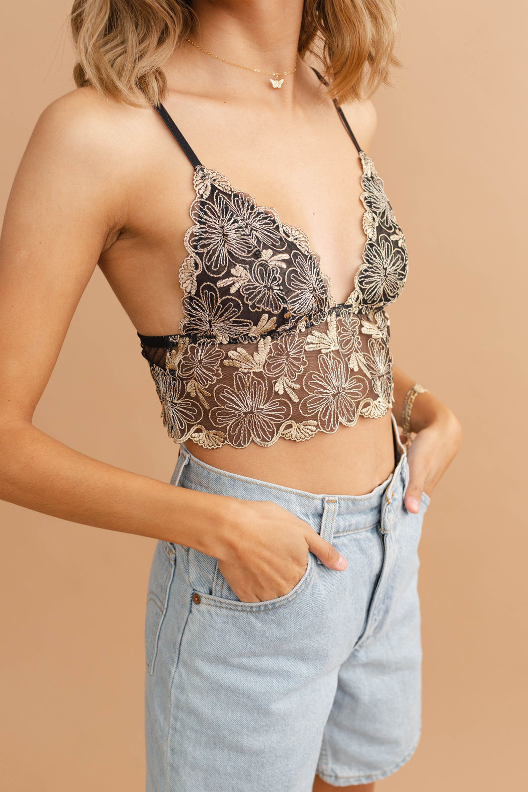 Meant To Be Floral Lace Bralette