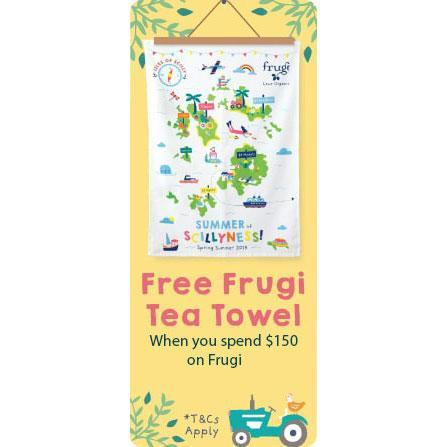 Free Frugi Tea Towel when you spend $150!