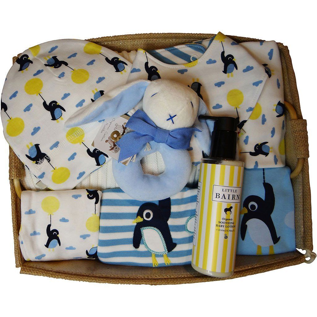 The Penguins are Flying Out of Baby Gift Works