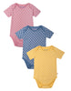 Frugi organic cotton baby bodysuit 3 pack - small spot