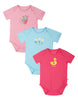Frugi organic cotton baby body suits - 3 pack ducky
