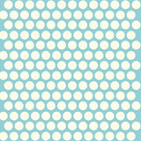 Blue dot organic cotton fabric
