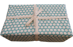 Blue fabric gift wrapping - Baby Gift Works